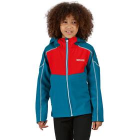 Regatta Acidity IV Chaqueta Soft Shell Niños, olympic teal/fiery red/gulfsteam reflective
